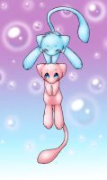 Mew Twins by BlessedGuardian