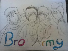 Bro Army (uncolored) by judy2468