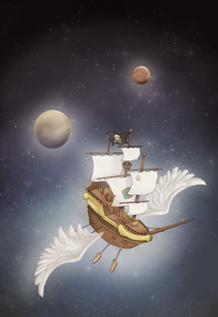 Space Ship by Laaree