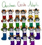 Christmas Grub Adopts by SuzumeKirei