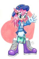 Amy Rose : a quick change by Foxxie-Angel