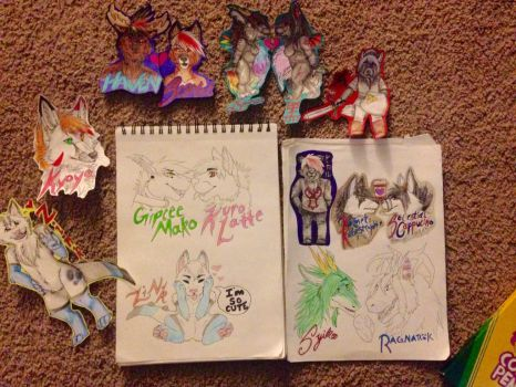 Fursuit Badge Batch 1 by LupercatheMutt