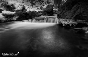 The Deep Winter Pool BW by mjohanson