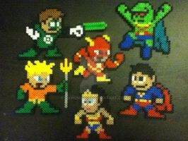 Perler Justice League by dawgma347