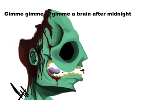 Gimme a brain after midnight by Impulso101