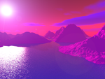 Nightfall on Planet Magenta by int3rv3n3