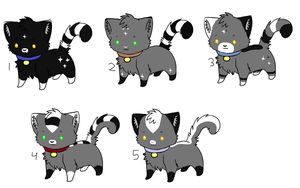 Cat Breedables 2- Litter 2 by sam-speed
