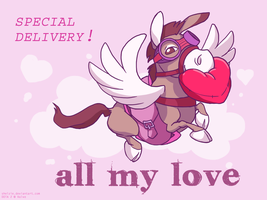 DOTA 2 Valentines - Courier by shelzie
