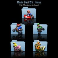 Mario Kart Wii - Icons by iFab
