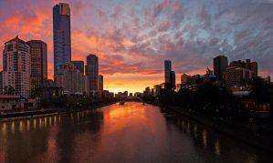 City Sunset Panorama by DanielleMiner