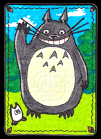 Totoro ACEO 33 by Siobhan68