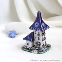 Purple lavender fairy house by vavaleff