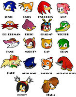 Sonic classic characters by sonictopfan