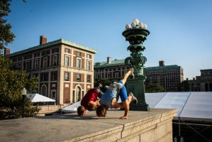 Crow Pose at Columbia by TheDemolitionist