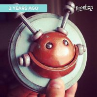 Throwback Thursday: 2 years ago 'Happiness Bot' by HerArtSheLoves