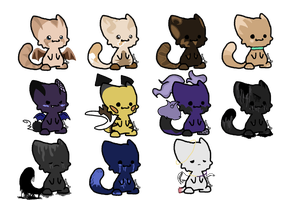Chibi Adopts by ghostiibear