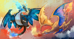 Charizards by Pidoodle