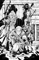 Pathfinder Origins 5 Cover Inks by sean-izaakse