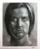 Charcoal Self Portrait 2012 by hglucky13