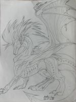 Pencil Sketched Dragon by IntoxicatingKiss