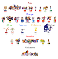 Street Fighter and Darkstalker World by simpleguyfa