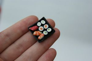 Mini Sushi Tray by SteamPoweredFish