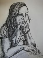 Crosshatching Exercise - Portrait by cusT0M