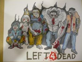 Chibi left 4 dead Characters by daunted