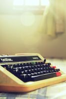 i call him a typewriter by Ooncit