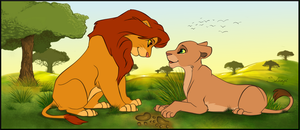 Valentines Day Simba and Nala by ShungiLion