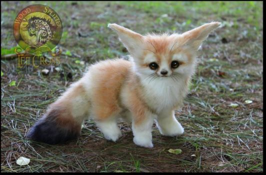 Handmade Fully Poseable Baby Fennec Fox! by Wood-Splitter-Lee