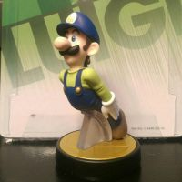 My Custom Luigi amiibo  by Cjunoxx