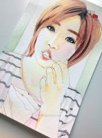 Ham Eun-jeong -- T-ara fan art painting by antuyetlai