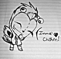 Imma Chicken by LeRainbowTurtle