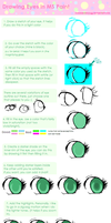 How to draw eyes in MS Paint by CommanderPigg