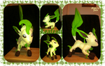 Leafeon plush by SirAlex0014