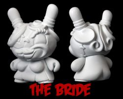 Dunny Monster : DIY The Bride by zombiemonkie
