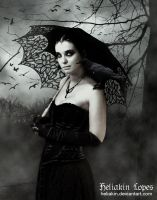 Beautiful woman in mourning by Heliakin