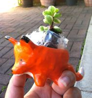 Fox Planter by PinkChocolate14