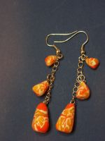 Crazy Candy Corn Earings by QuoteCentric