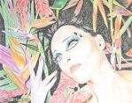 Siouxsie Floral (pencil drawing) by kfairbanks