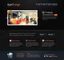 App Orange - PSD Layout by EmilioEx