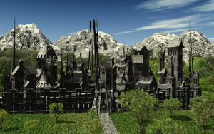 The Mountain Citadel by Runewitch