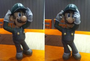 Luigi - Super Smash Brothers Brawl Papercraft by bratchny