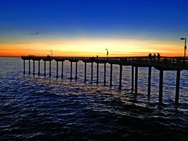 Pier at sunset by fosspathei