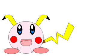 Pikachu - Kirby by MagicalMii