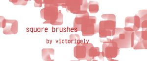 Square brushes by victoriaely