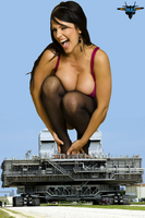 Denise Milani on Launch Vehicle by MAZ-629999