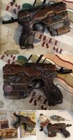 BioShock Nerf pistol the rust bucket gun by GirlyGamerAU