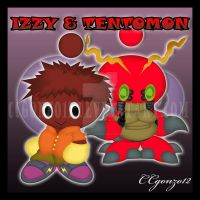 Prize: Izzy_Tentomon Chao by CCmoonstar23